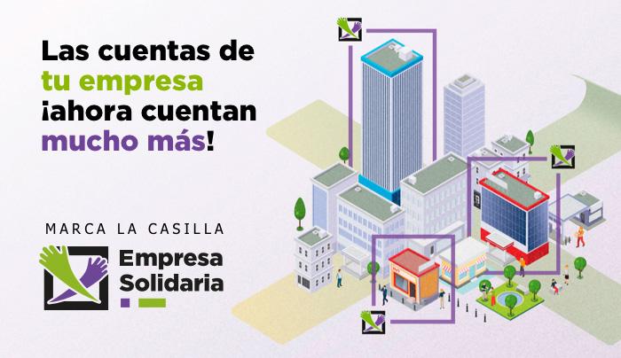 Marca la casilla Empresa Solidaria en tu Impuesto de Sociedades
