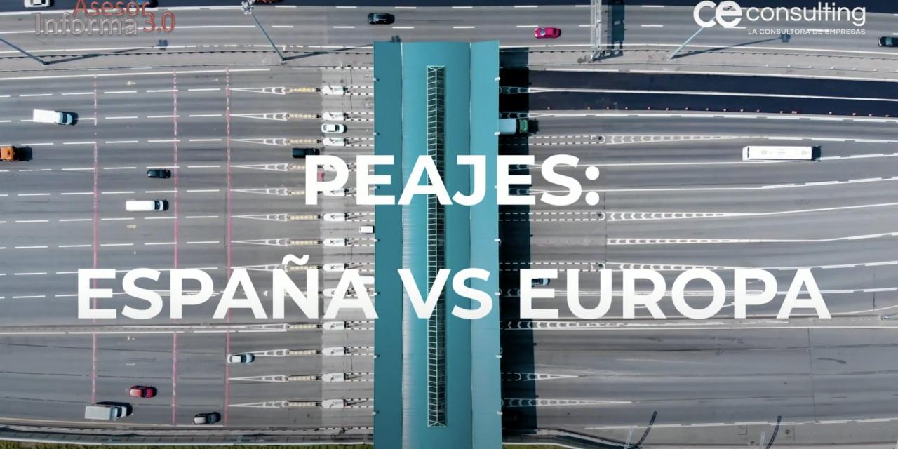 España VS Europa: así se paga en Europa por usar los peajes en autovías